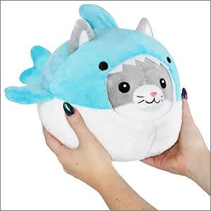 Squishable / UnderCover Kitty in Shark - 7""