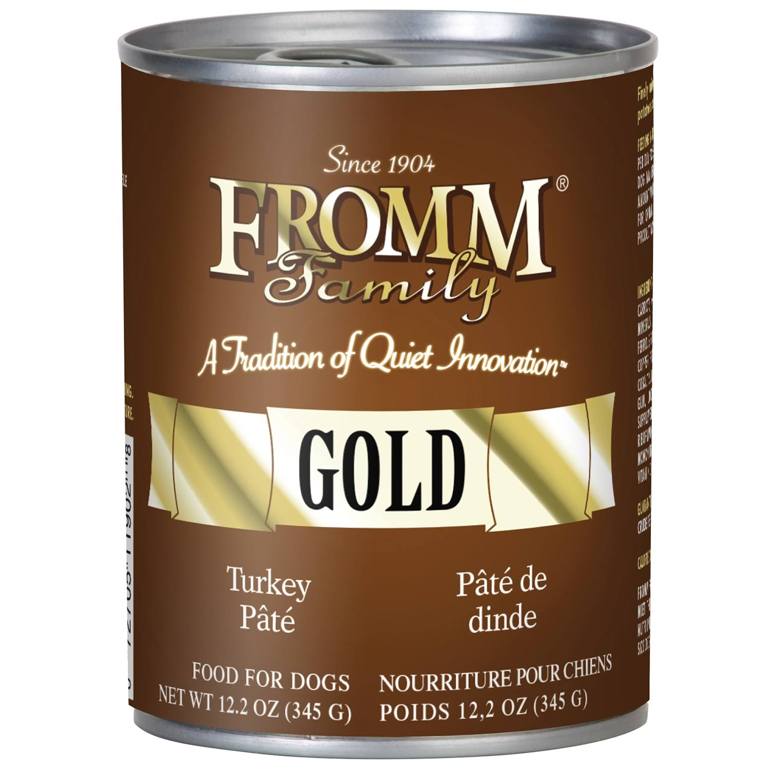 Fromm Gold Canned Dog Food - Turkey Pate