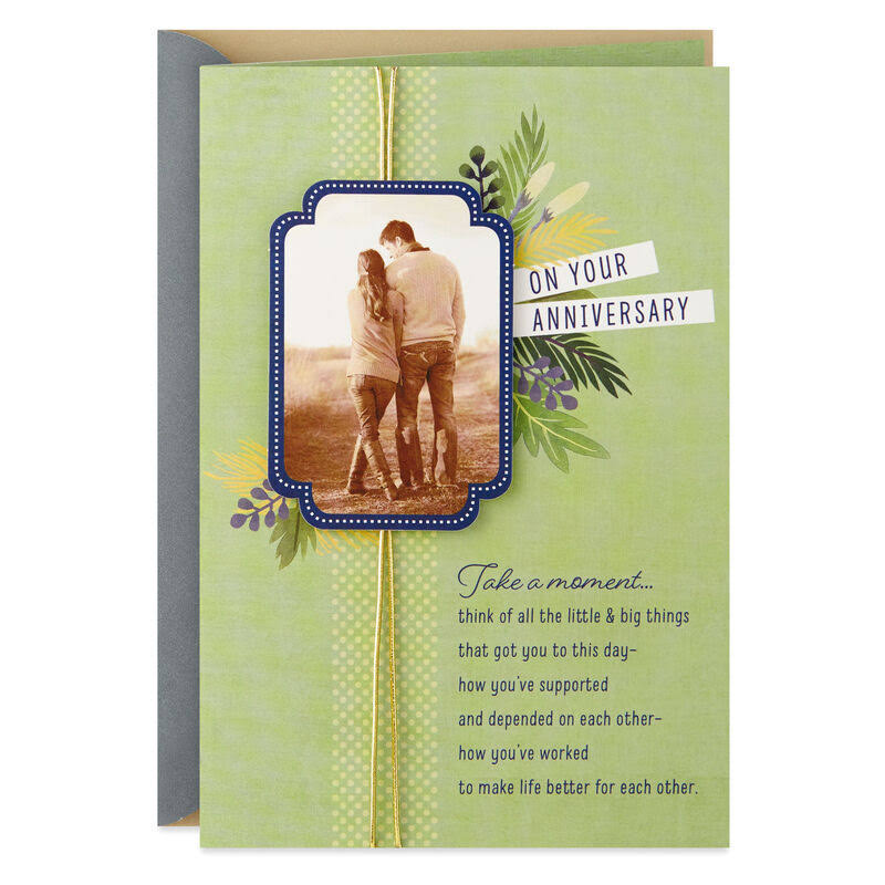 You're Wished Many More Years of Happiness Anniversary Card