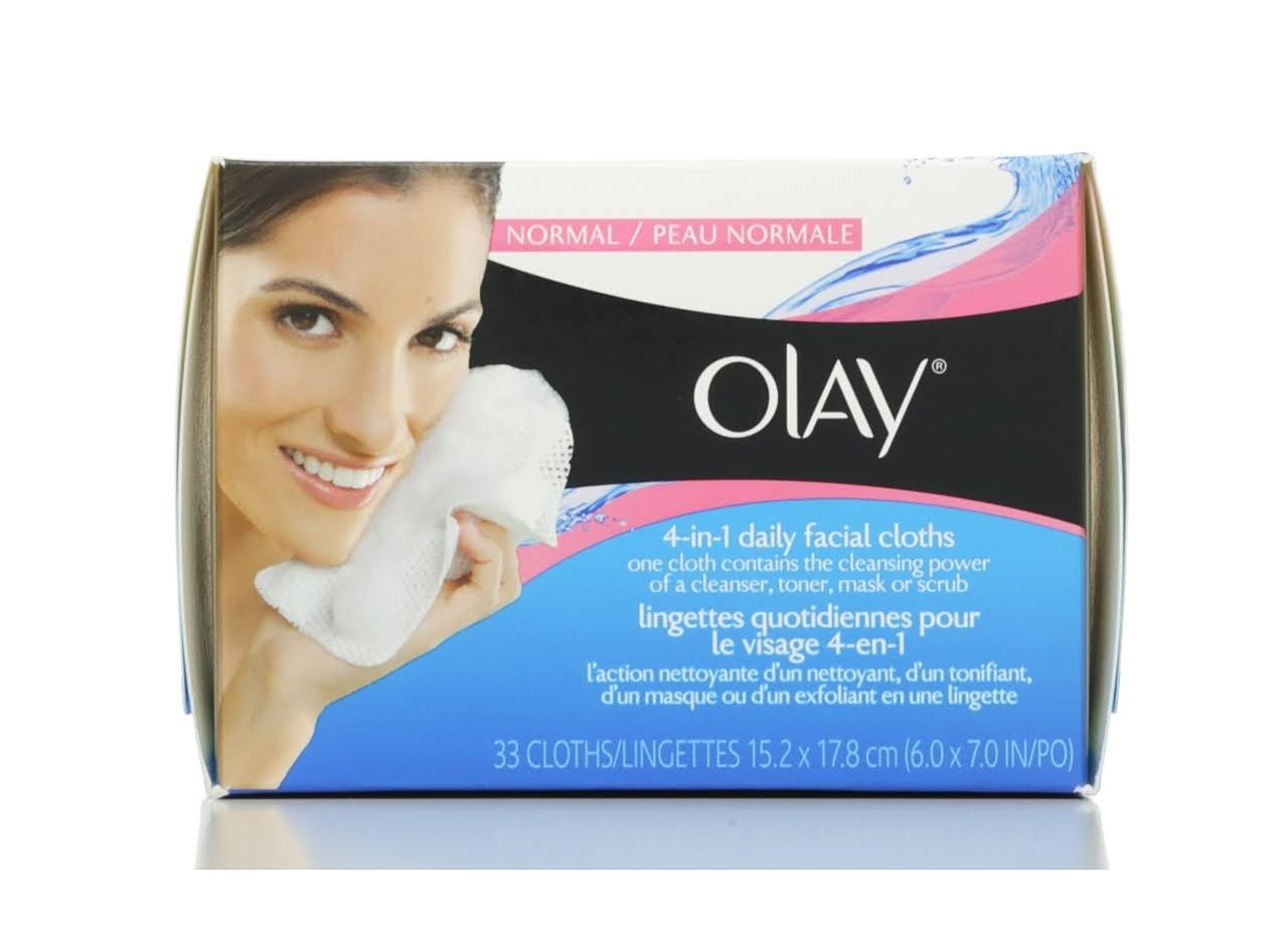 Olay 4 in 1 Daily Facial Cloths Normal Soap