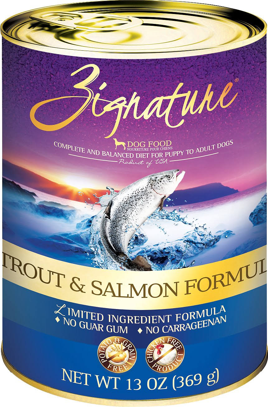 Zignature 13 oz Trout Salmon Canned Dog Food