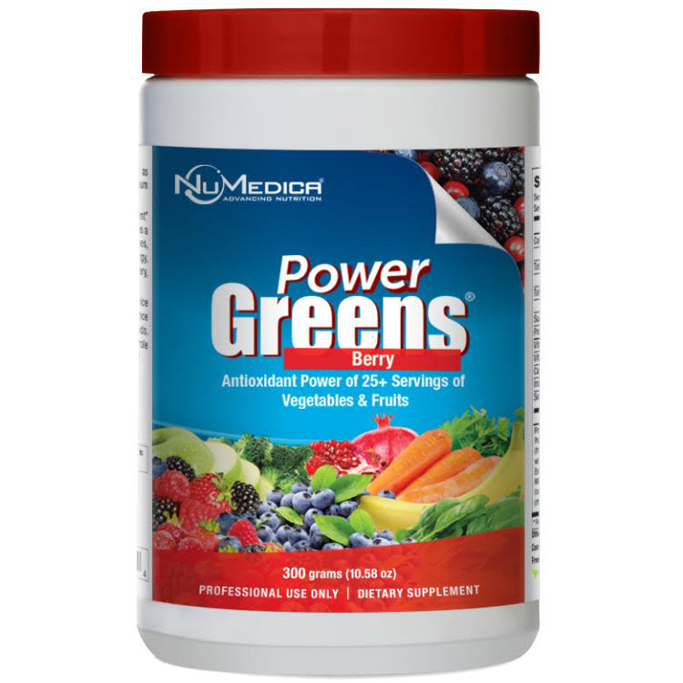 NuMedica Power Greens Dietary Supplement - Berry, 300g