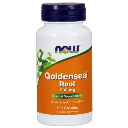 NOW Goldenseal Root 500mg Capsules - 100 Capsules
