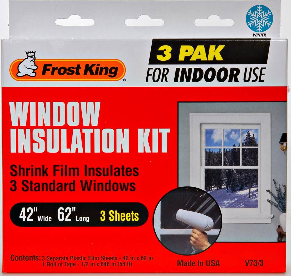 Frost King Shrink Window Insulation Kit Indoors