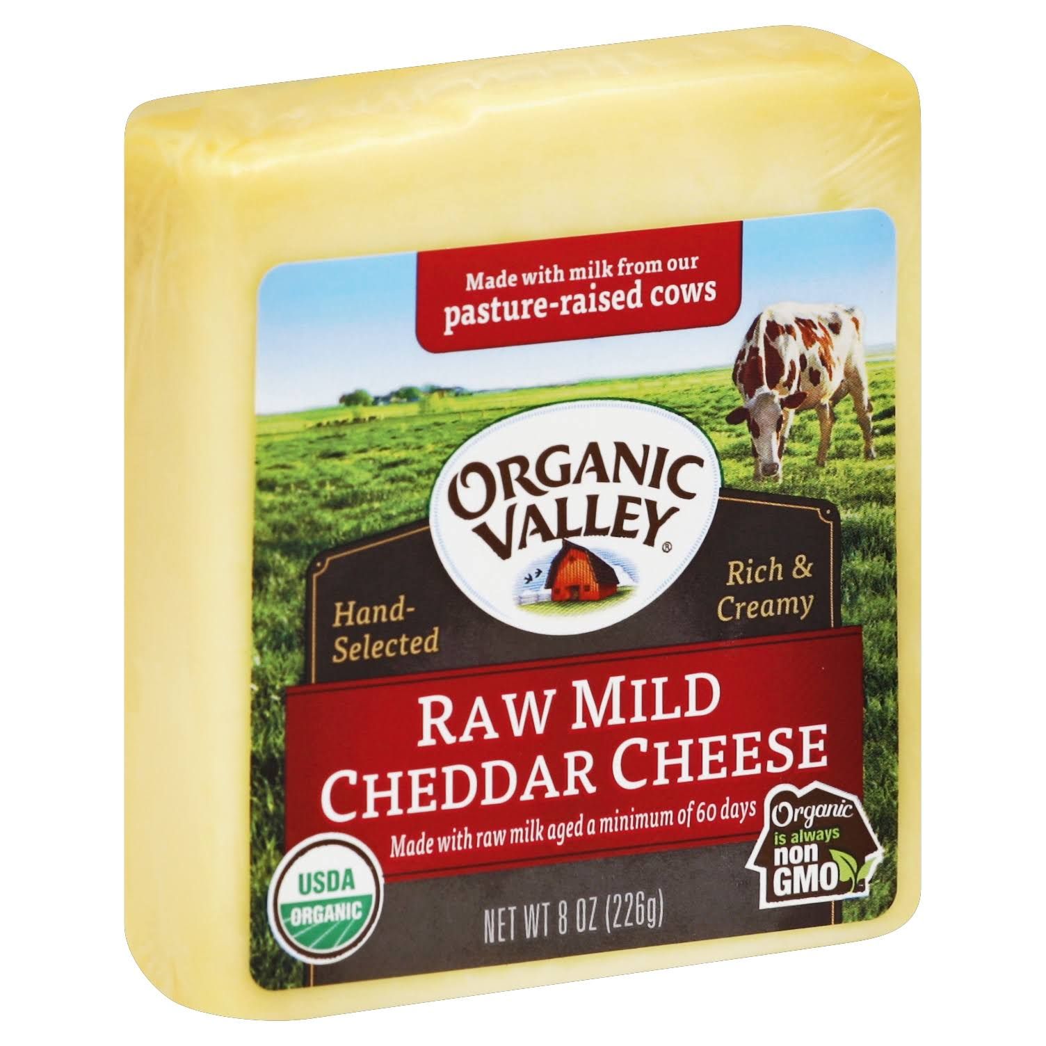 Organic Valley Organic Raw Mild Cheddar Cheese - 8oz