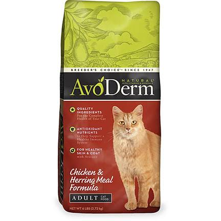 Natural Adult Cat Food - Chicken & Herring Meal, 6lbs