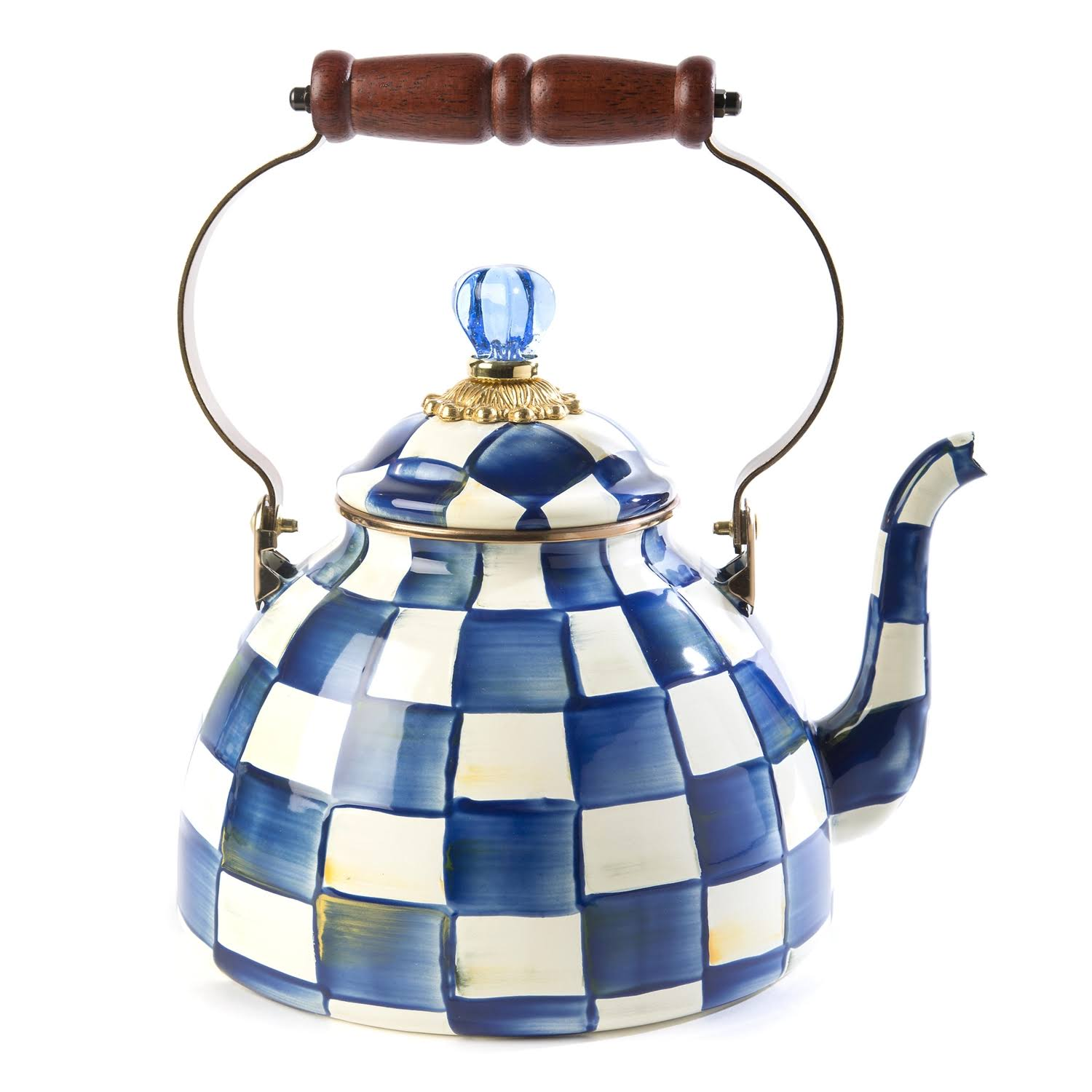 MacKenzie-Childs Royal Check Tea Kettle - 3 Quart
