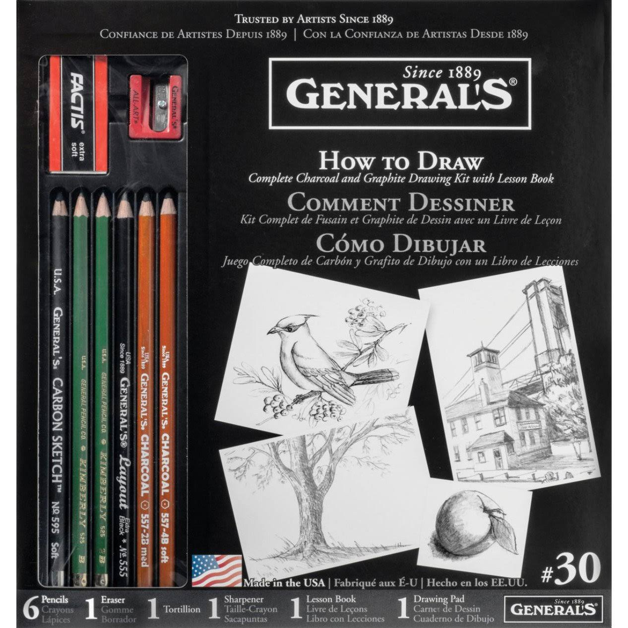 General's Learn to Draw Now Drawing Kit