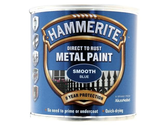 Hammerite Direct to Rust Smooth Finish Metal Paint - Black, 250ml