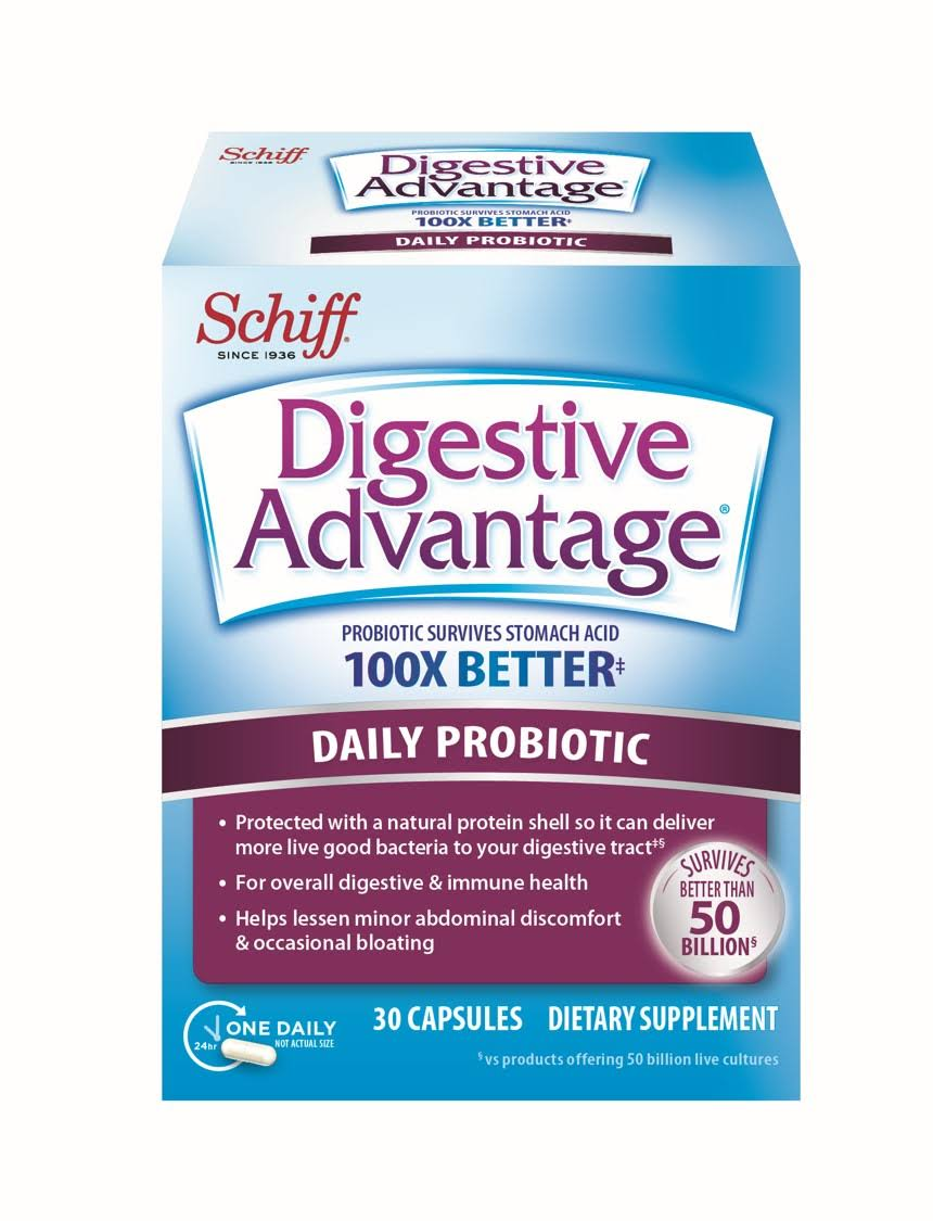 Schiff Sustenex Daily Probiotic Dietary Supplement - 30 Capsules