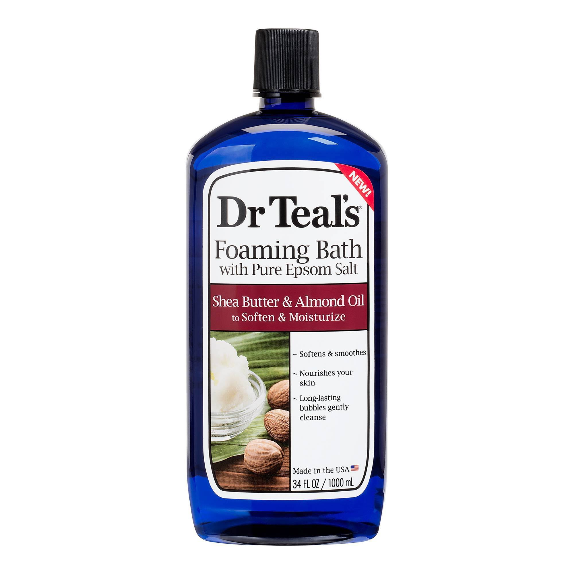 Dr Teal's Foaming Bath - With Pure Epsom Salt, Shea Butter & Almond Oil, 1000ml
