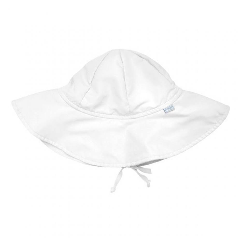 I Play Brim Sun Shade Protection Hat - White, 0-6 Months