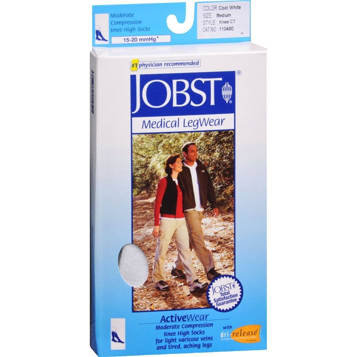 Jobst Medical Legwear Activewear Knee High Socks - Cool White. Large