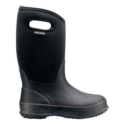 Bogs Kids Classic High Winter Snow Boot - Black, 4 M US Big Kid, Big Kid 8-12 Years