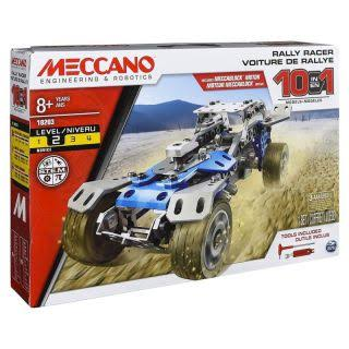 Meccano 10 in 1 Model Vehicle Building Block Puzzle Toy Kit - Rally Racer