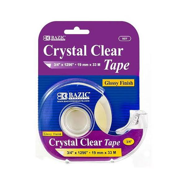 "Crystal Clear Tape with Dispenser - 3/4"" x 1296"""
