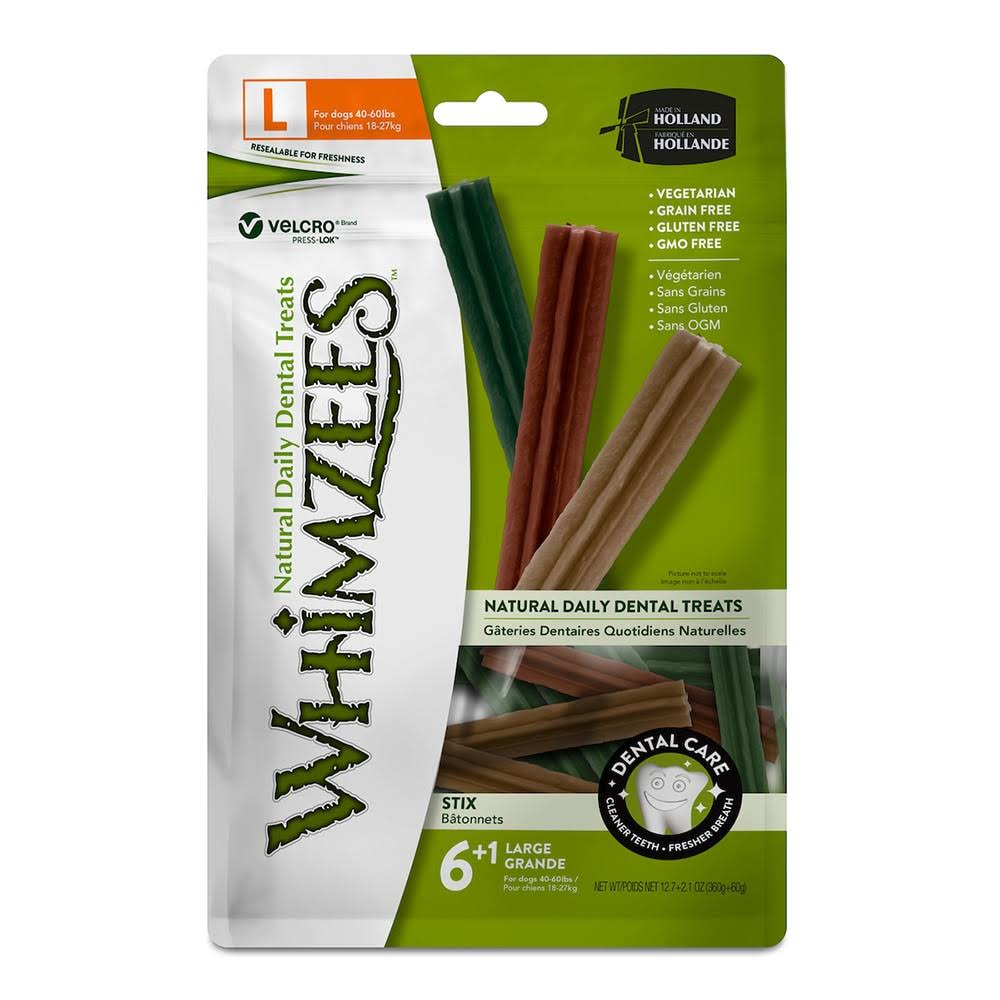 Whimzees Stix Dental Dog Treats - Large, x7