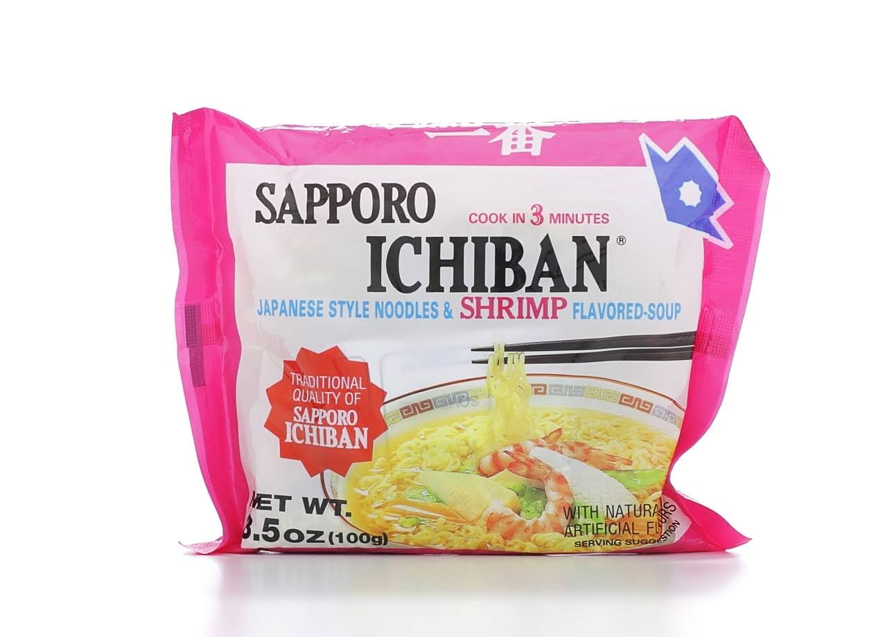Sapporo Ichiban Japanese Style Noodle Soup - Shrimp Flavored, 3.5oz