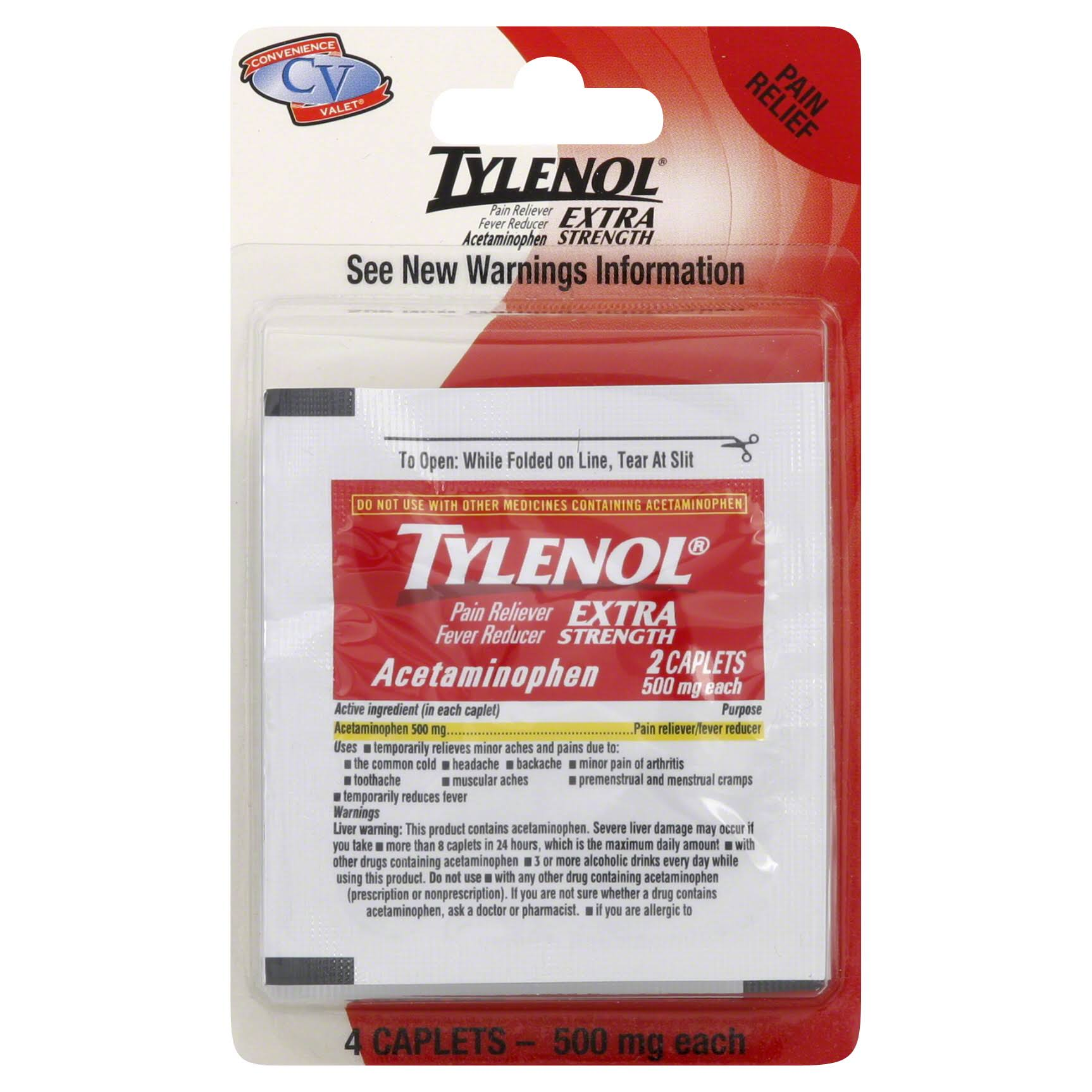 Tylenol Extra Strength Pain Reliever - 4 Caplets