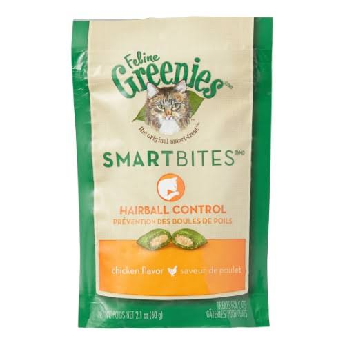 Greenies Smartbites Hairball Control Cat Treats - Chicken, 2.1oz