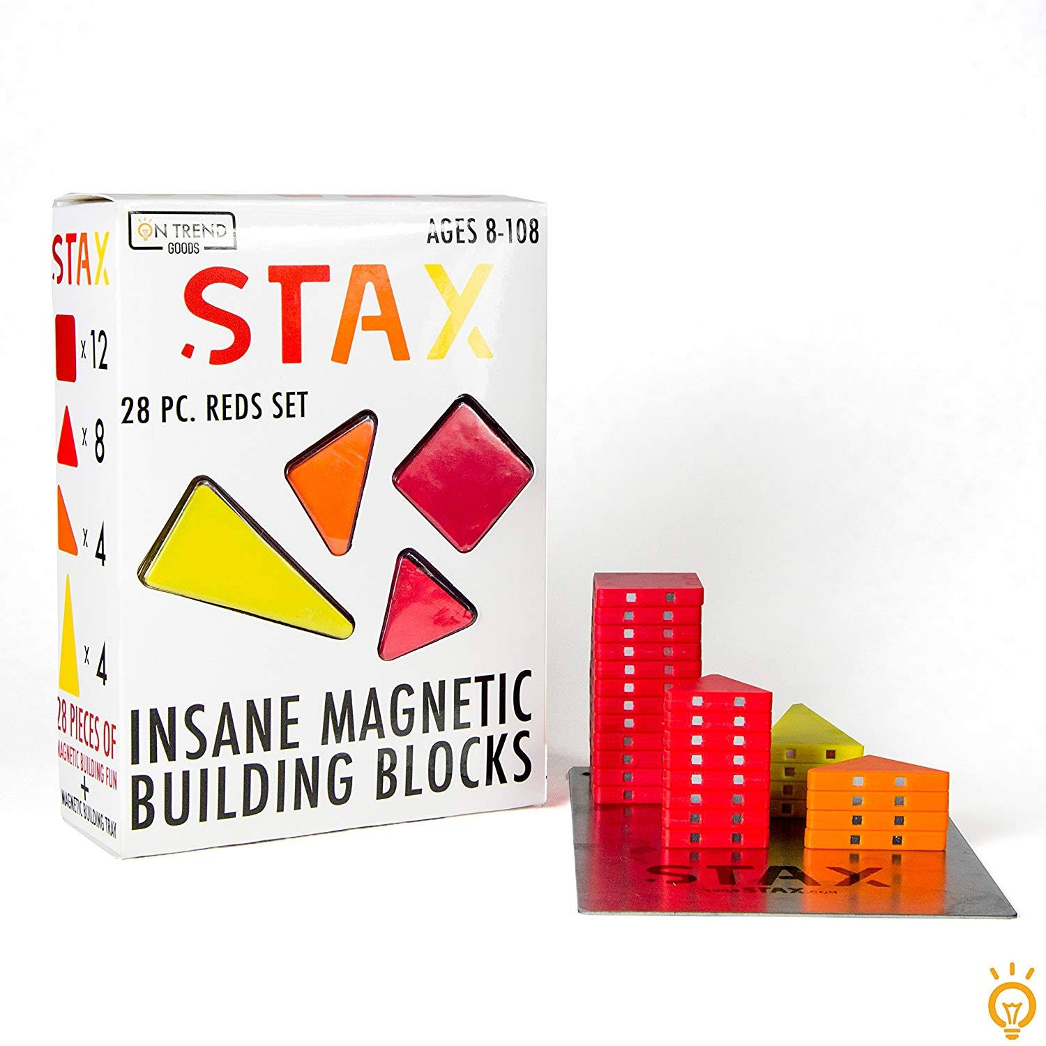 Stax 28pc Insane Magnetic Building Block Set (Reds )