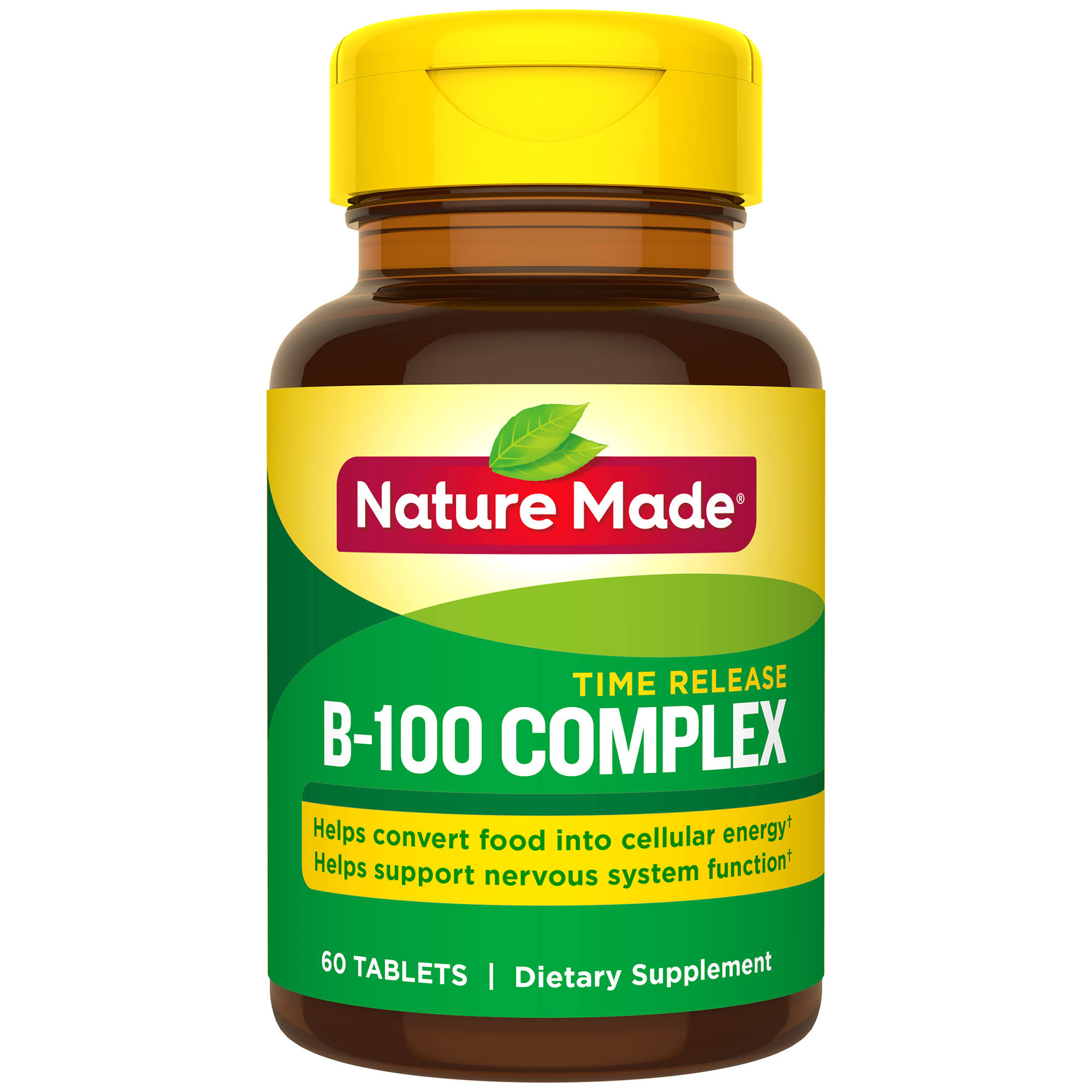 Nature Made Balanced Vitamin B 100 Complex Supplement - 60ct