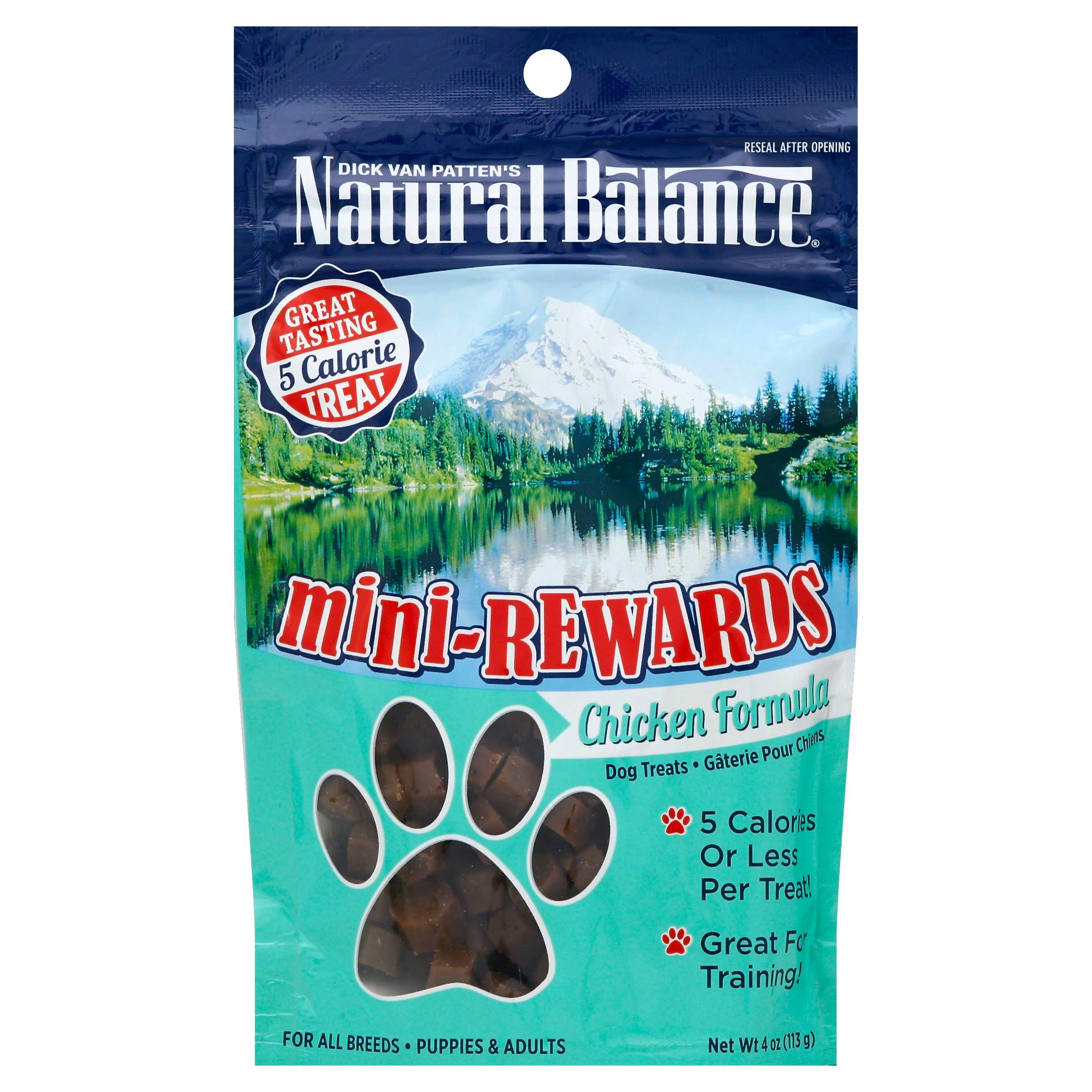 Natural Balance Mini Rewards Chicken Formula Dog Treat - 4oz