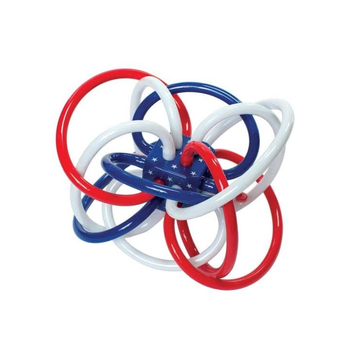 Manhattan Toy Red White & Blue Winkel Rattle Teether