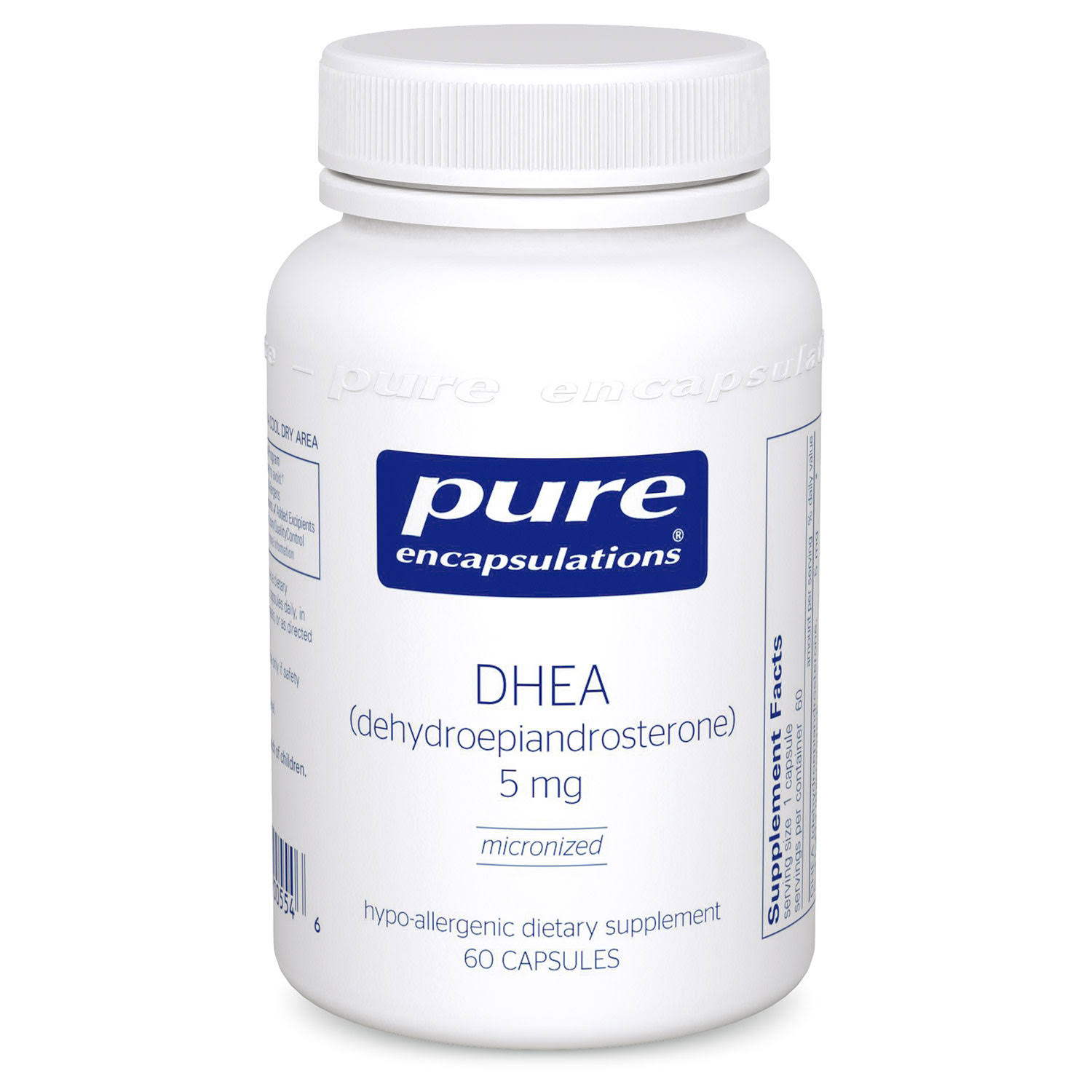 Pure Encapsulations Micronized DHEA Supplement - 5mg, 60 Capsules