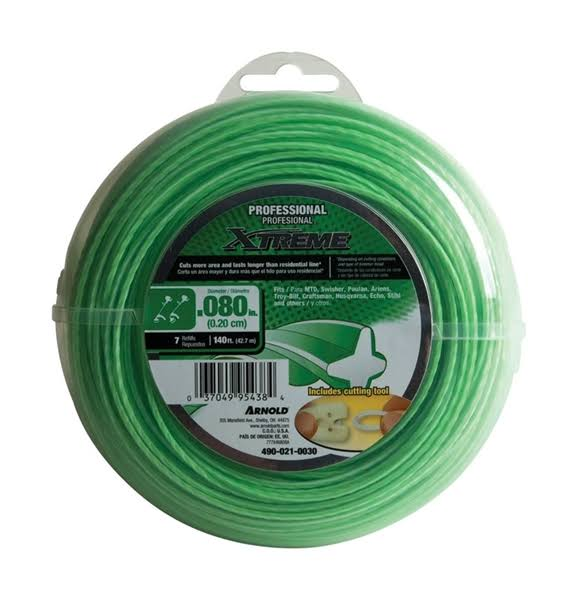 "Arnold Xtreme Professional Trimmer Line - 0.08"" x 140'"