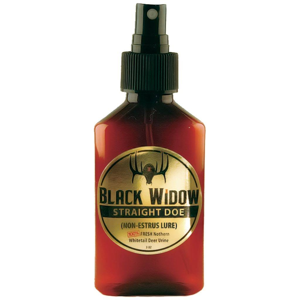 Black Widow Deer Lures Straight Doe Northern Whitetail Lure - 3oz