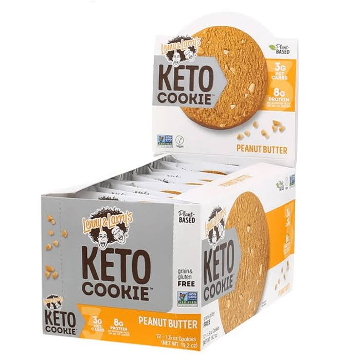 Lenny and Larry Keto Cookies Peanut Butter - 12ct