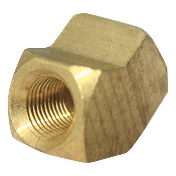 JMF Pipe Elbow - Yellow Brass, 45 Degree, 1/2""