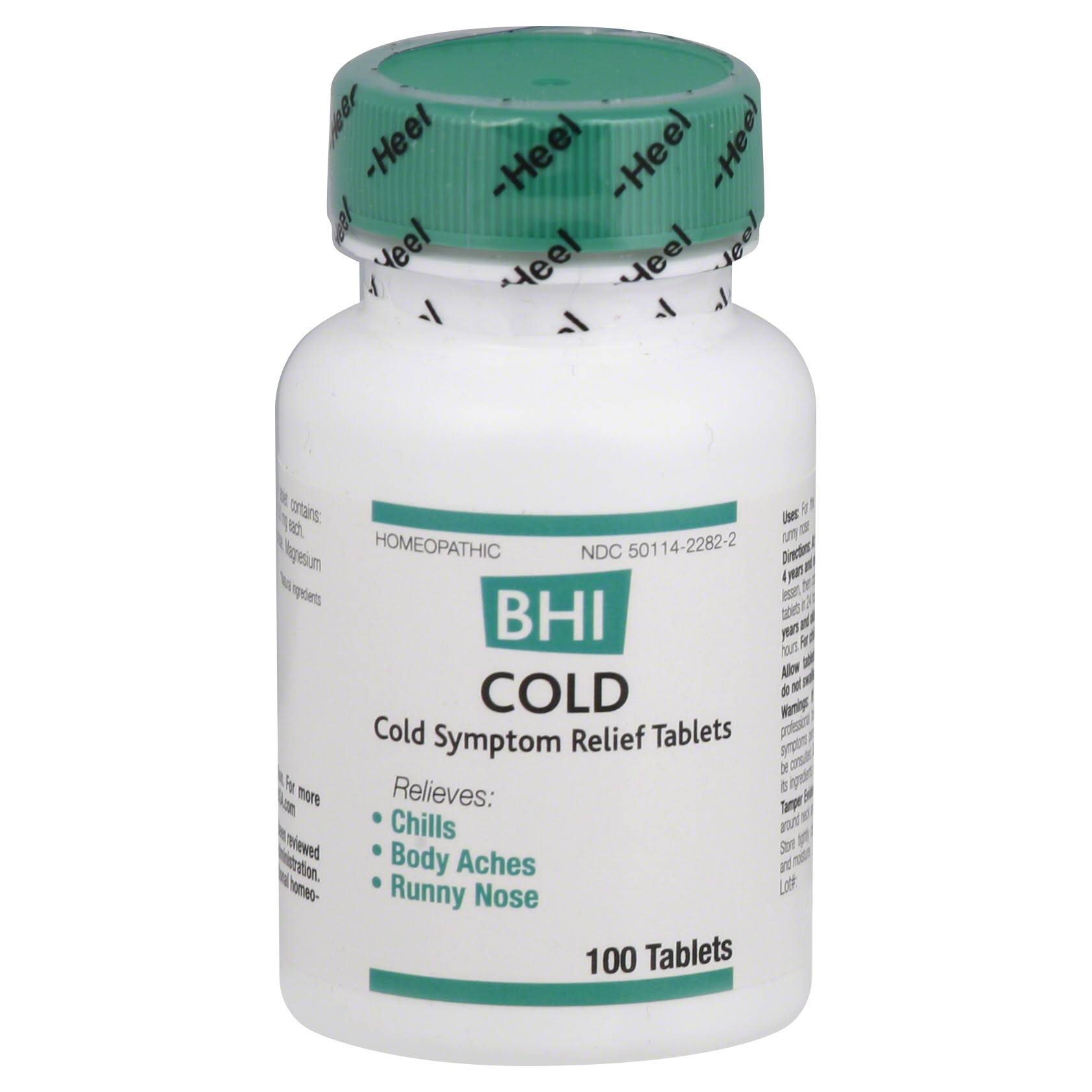 BHI Cold Sympton Relief Tablets - 100ct