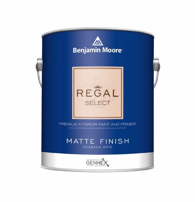 Benjamin Moore Regal Select Interior Paint- Matte (548) Quart / White