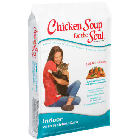 Chicken Soup for The Soul Indoor with Hairball Care Dry Cat Food 5lb
