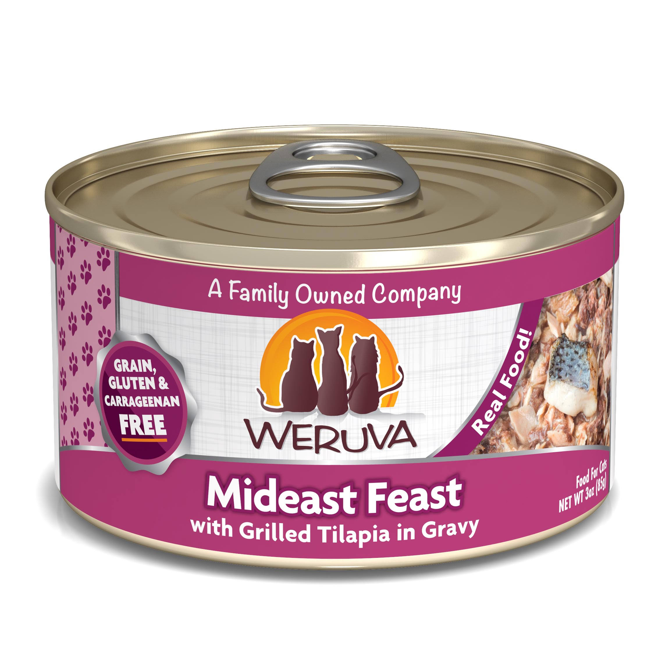 Weruva Cat Food - Mideast Feast with Grilled Tilapia, 3oz