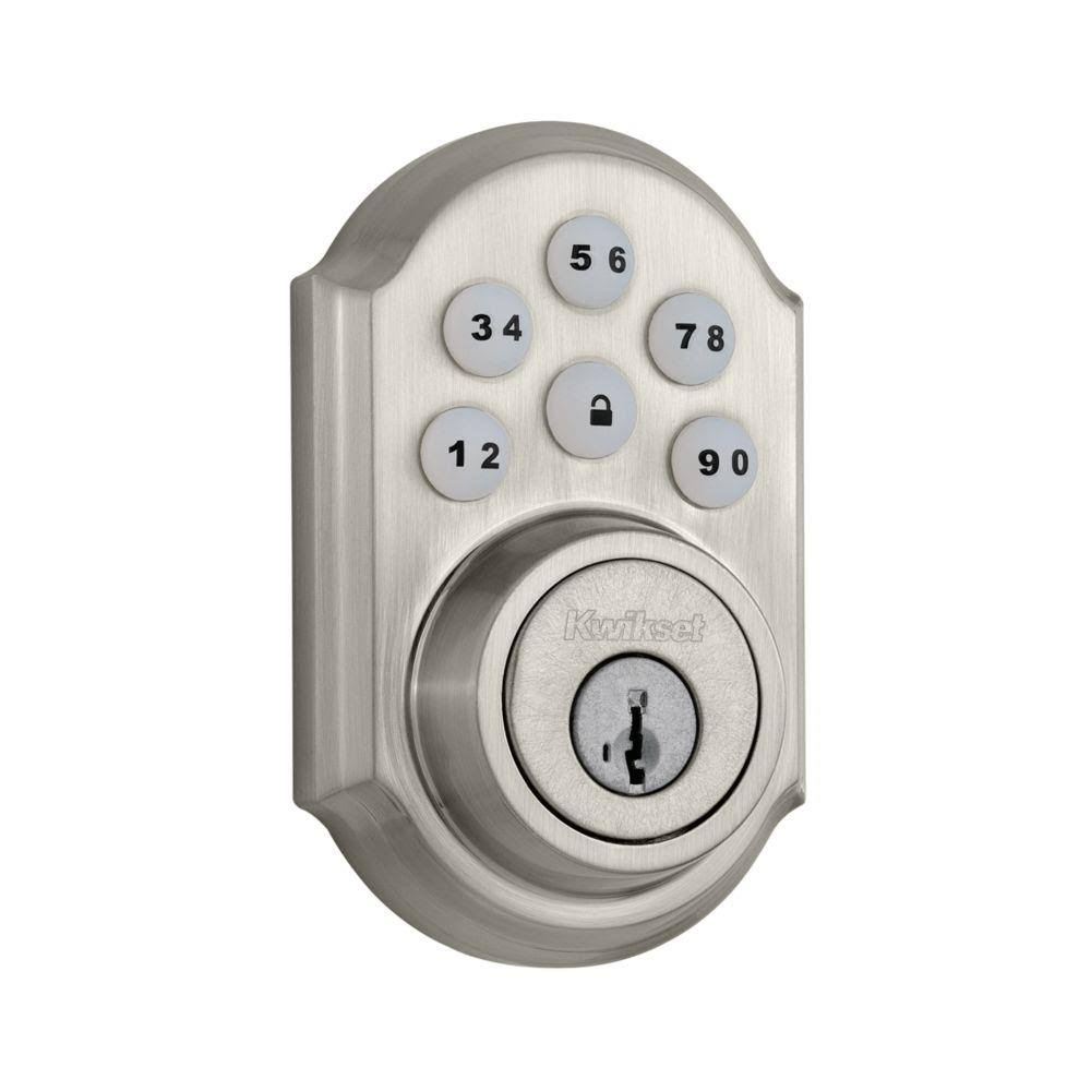 Kwikset Smartcode Single-cylinder Electronic Entry Door Deadbolt - with Keypad, Satin Nickel