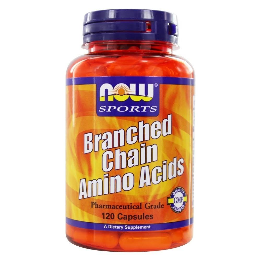 Now Sports Branched Chain Amino Acids - 120 Capsules