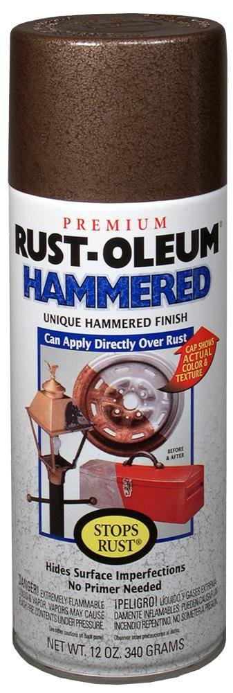Rust-Oleum Stops Rust Hammered Spray Paint - Brown, 340g