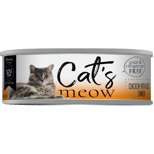 Dave's Cat's Meow Chicken with Duck Dinner Canned Cat Food - Can