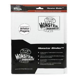 Monster Binder - 4 Pocket, Matte White