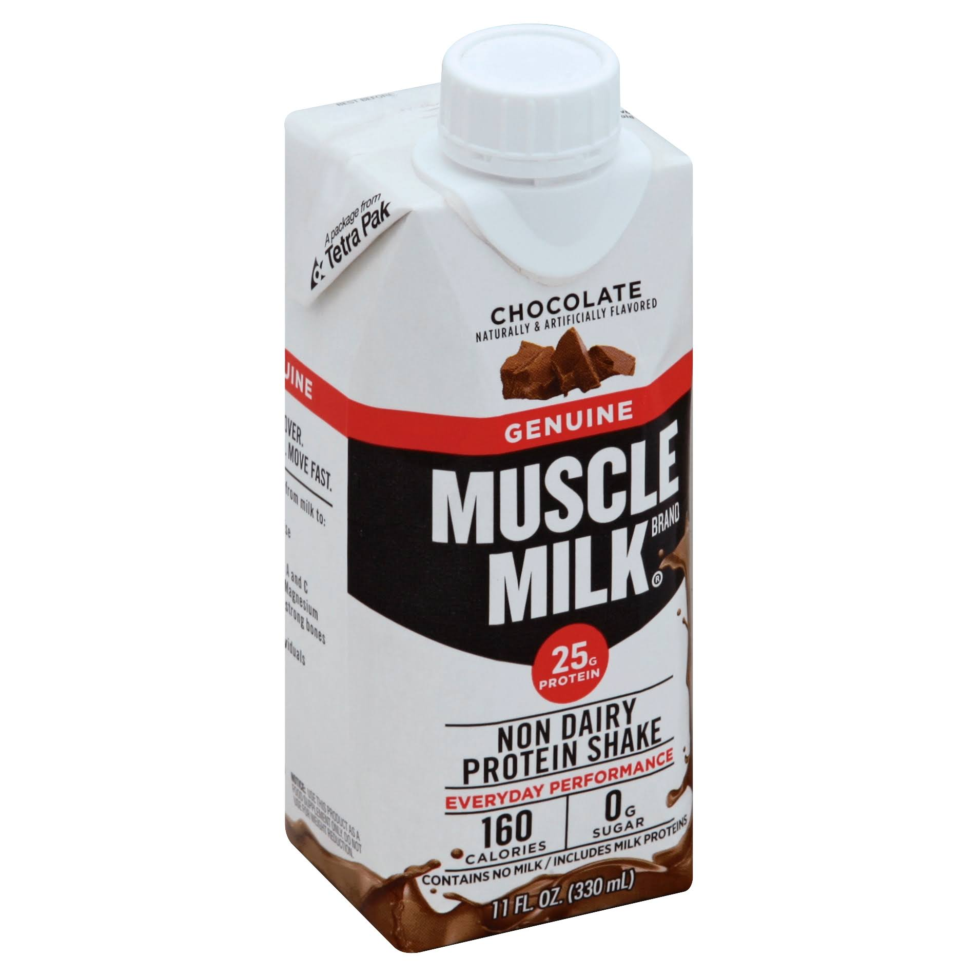 Muscle Milk Chocolate Protein Nutrition Shake - 14oz