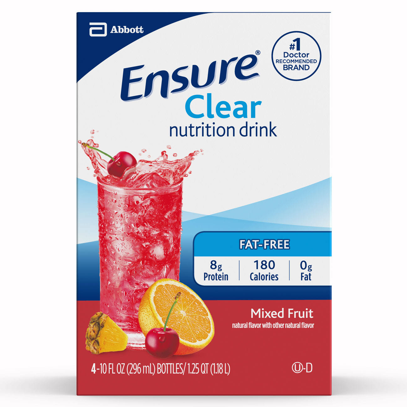 Abbott Ensure Clear Nutrition Drink - Mixed Fruit, 10oz, 4ct