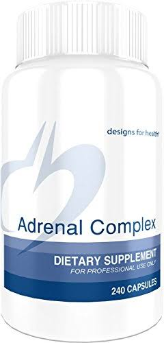 Designs for Health Adrenal Complex Supplement - 240 Vegetarian Capsules