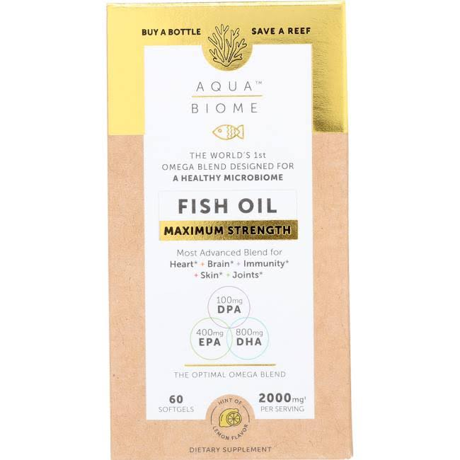 Aqua Biome Fish Oil Maximum Strength - 60 pcs