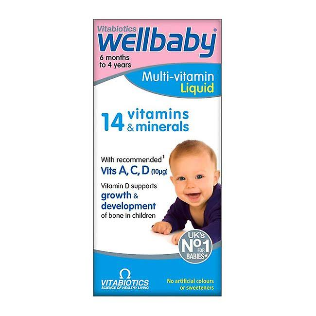 Vitabiotics Wellbaby Multi-Vitamin Liquid - 6 Months To 4 Years, 150ml