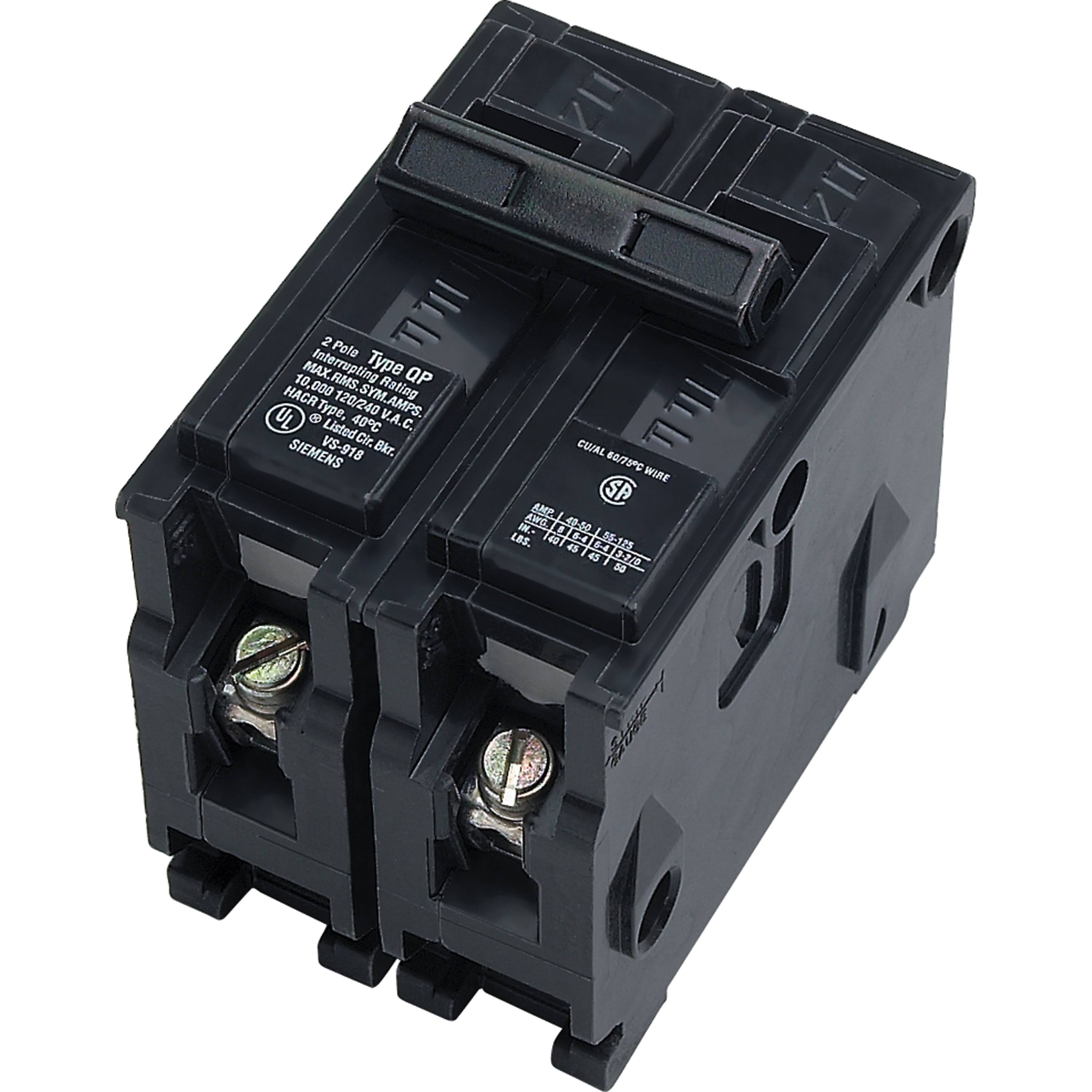 Siemens Double-Pole Type QP Circuit Breaker - 50 Amp, 240V