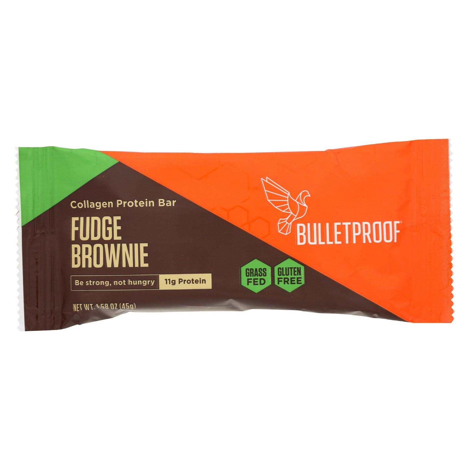 Bulletproof Protein Bar, Collagen, Fudge Brownie - 1.58 oz