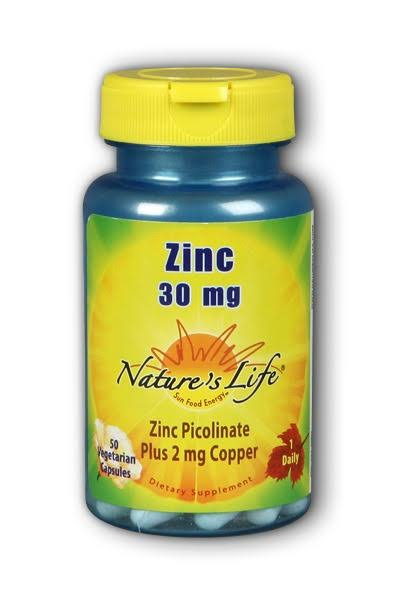 Nature's Life Zinc Picolinate Plus Copper Supplement - 50 Vegetarian Capsules